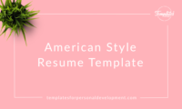 American Style Resume Template