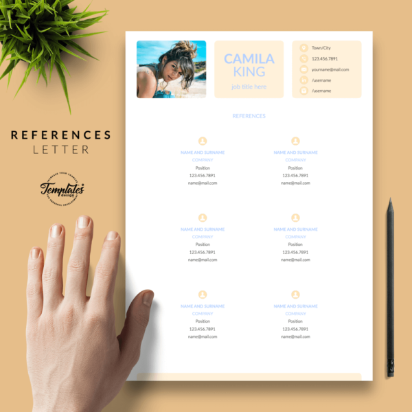 Resume CV Template - Camila King 06 - References