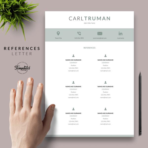 Resume CV Template - Carl Truman 06 - References