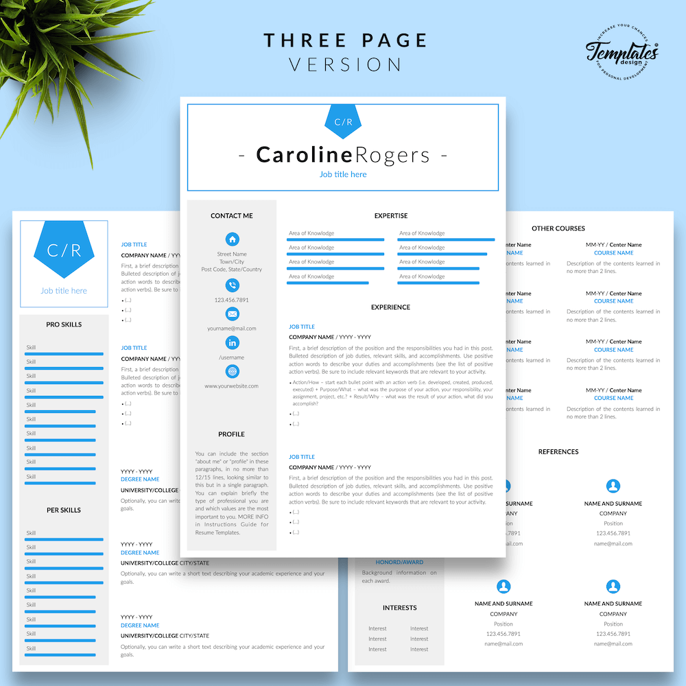 Resume Format for Engineer - Caroline Rogers 04 - Three Page Version