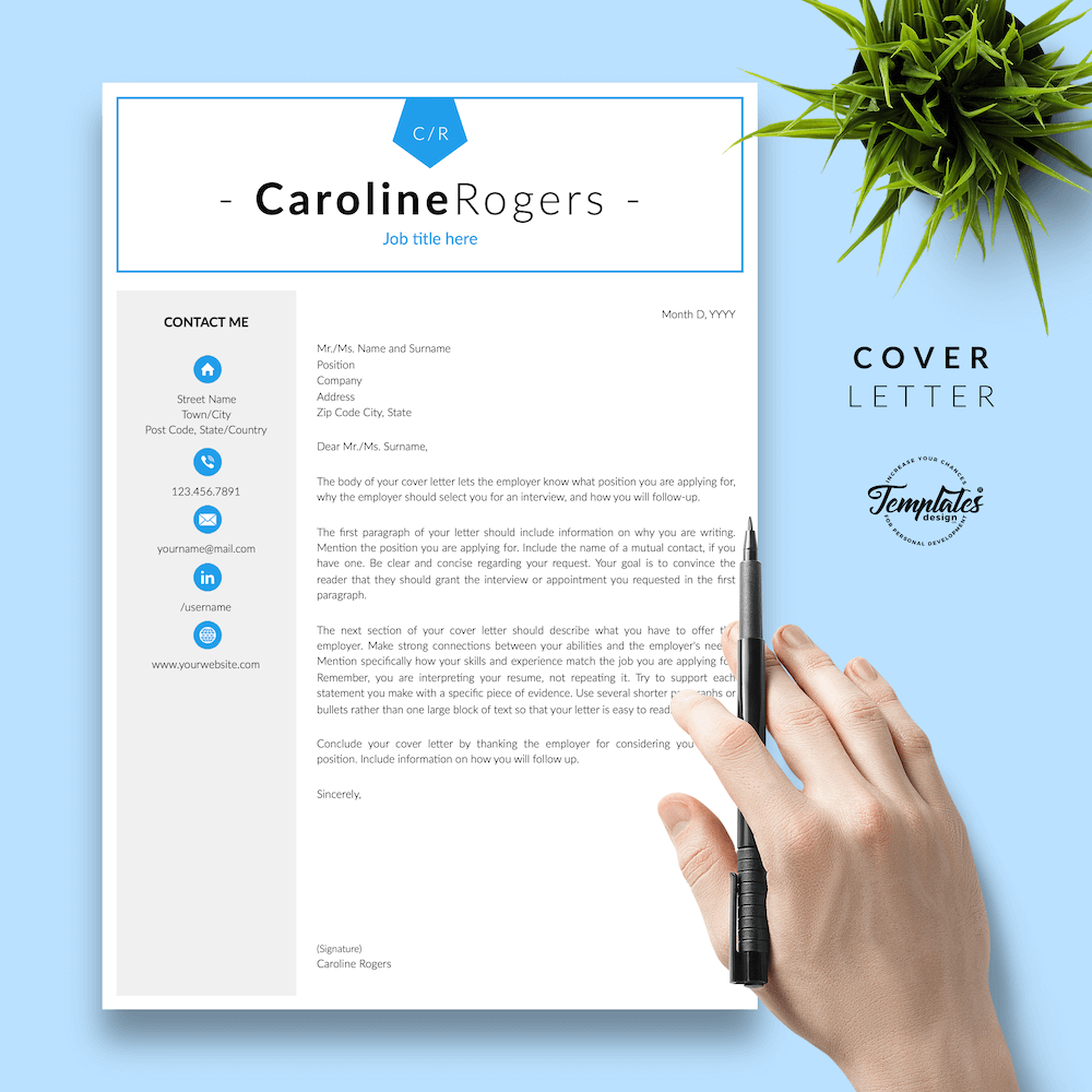 Resume Format for Engineer - Caroline Rogers 05 - Cover Letter