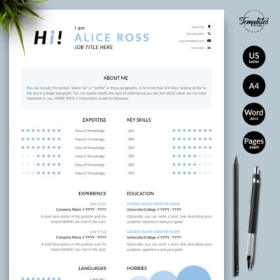 Resume CV Template - Alice Ross 01 - Presentation