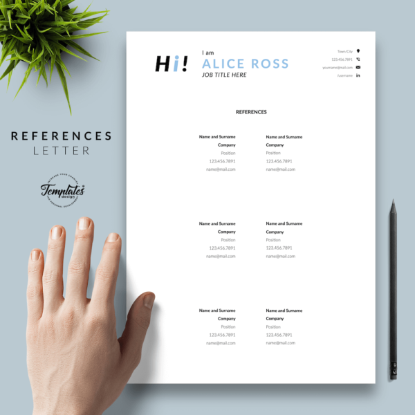 Resume CV Template - Alice Ross 06 - References