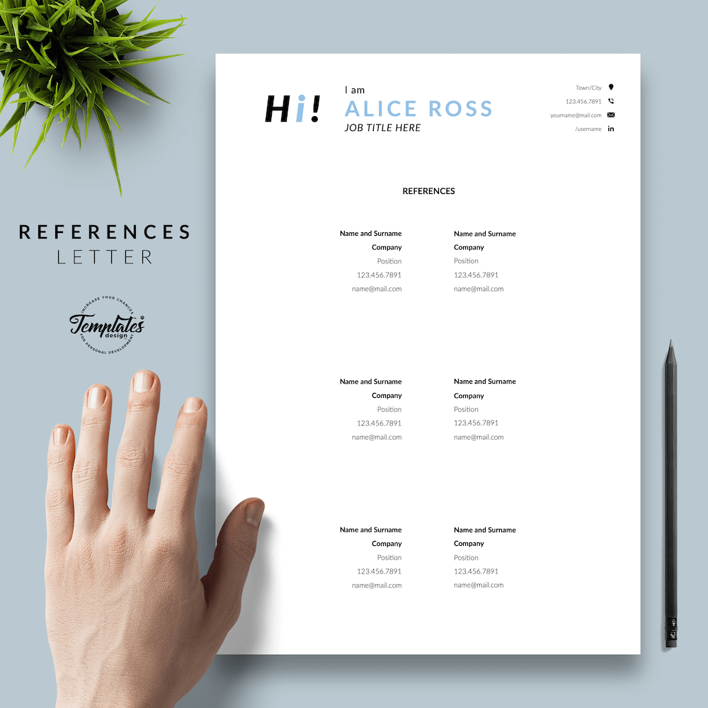 Creative Resume Format - Alice Ross 06 - References