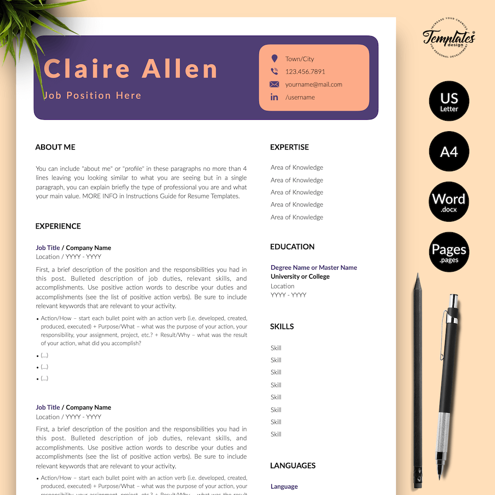 Creative CV for Any Job - Claire Allen 01 - Presentation