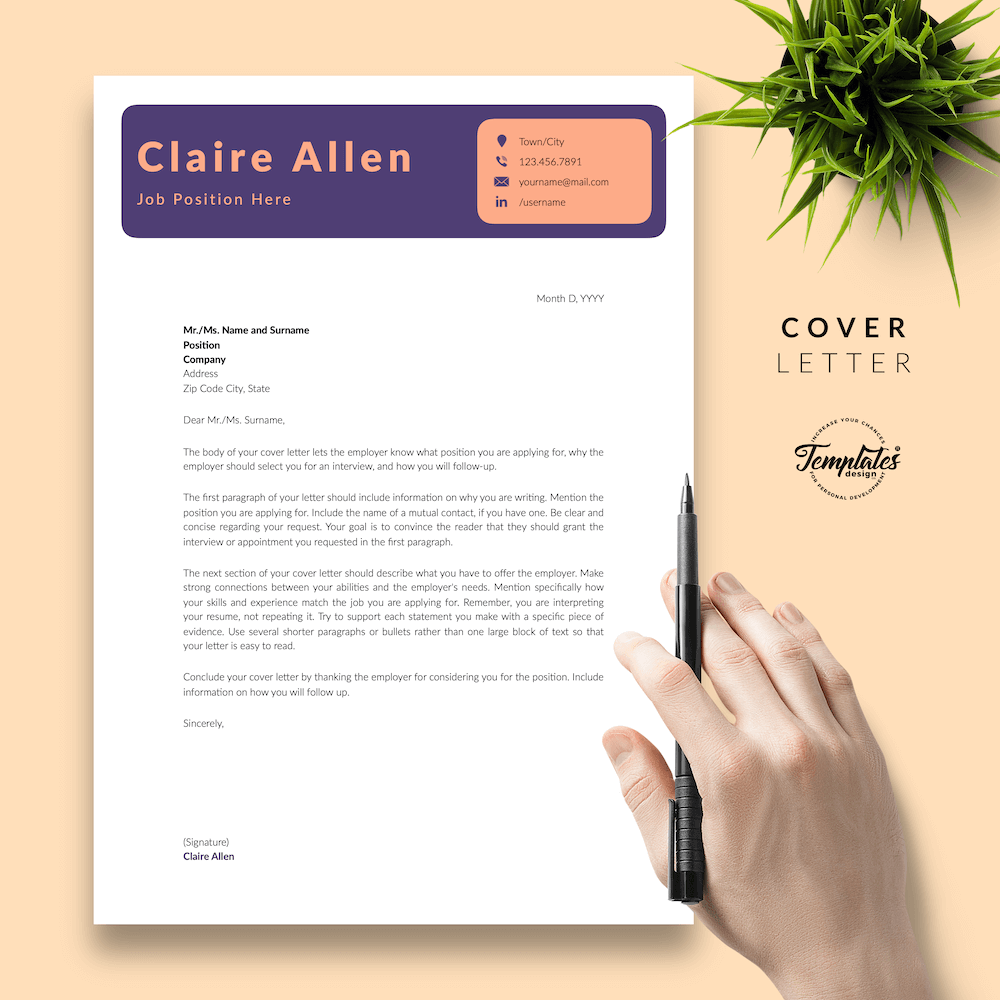 Creative CV for Any Job - Claire Allen 05 - Cover Letter