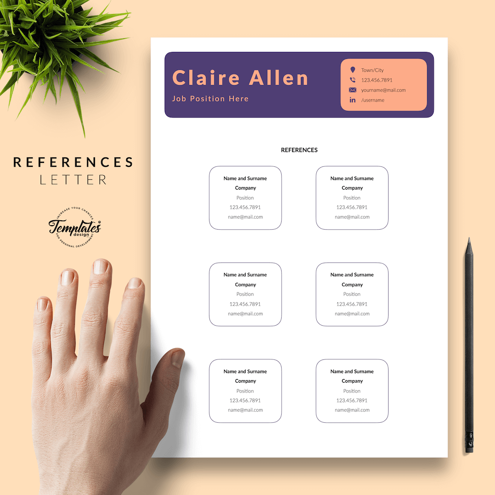 Creative CV for Any Job - Claire Allen 06 - References