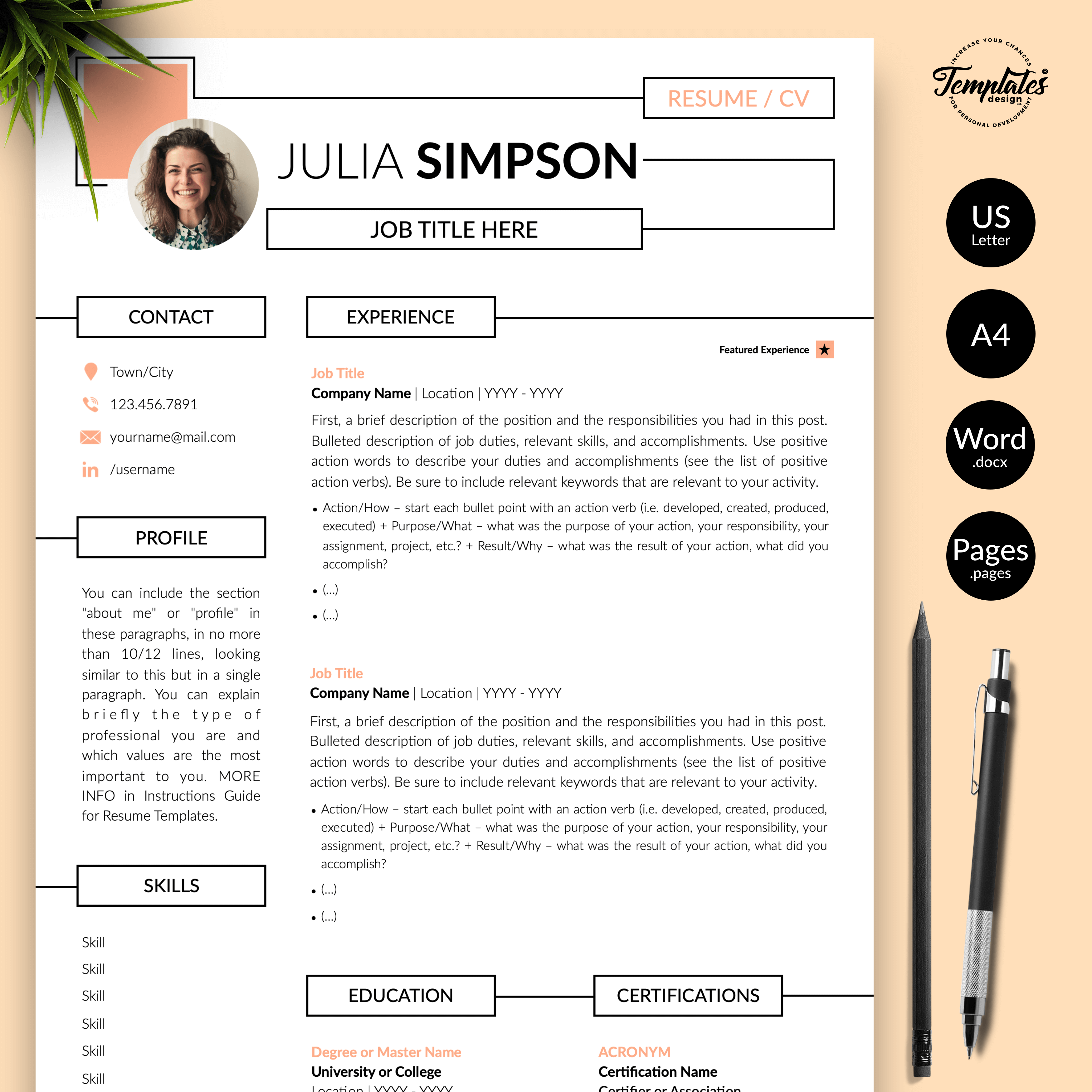 Creative Resume for Engineers - Julia Simpson 01 - Presentation
