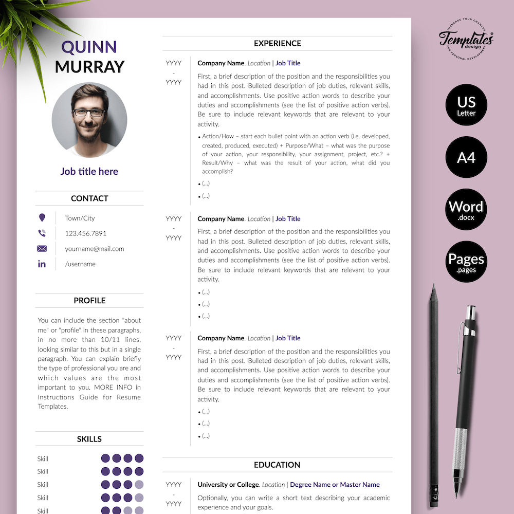 Modern Resume Design - Quinn Murray 01 - Presentation