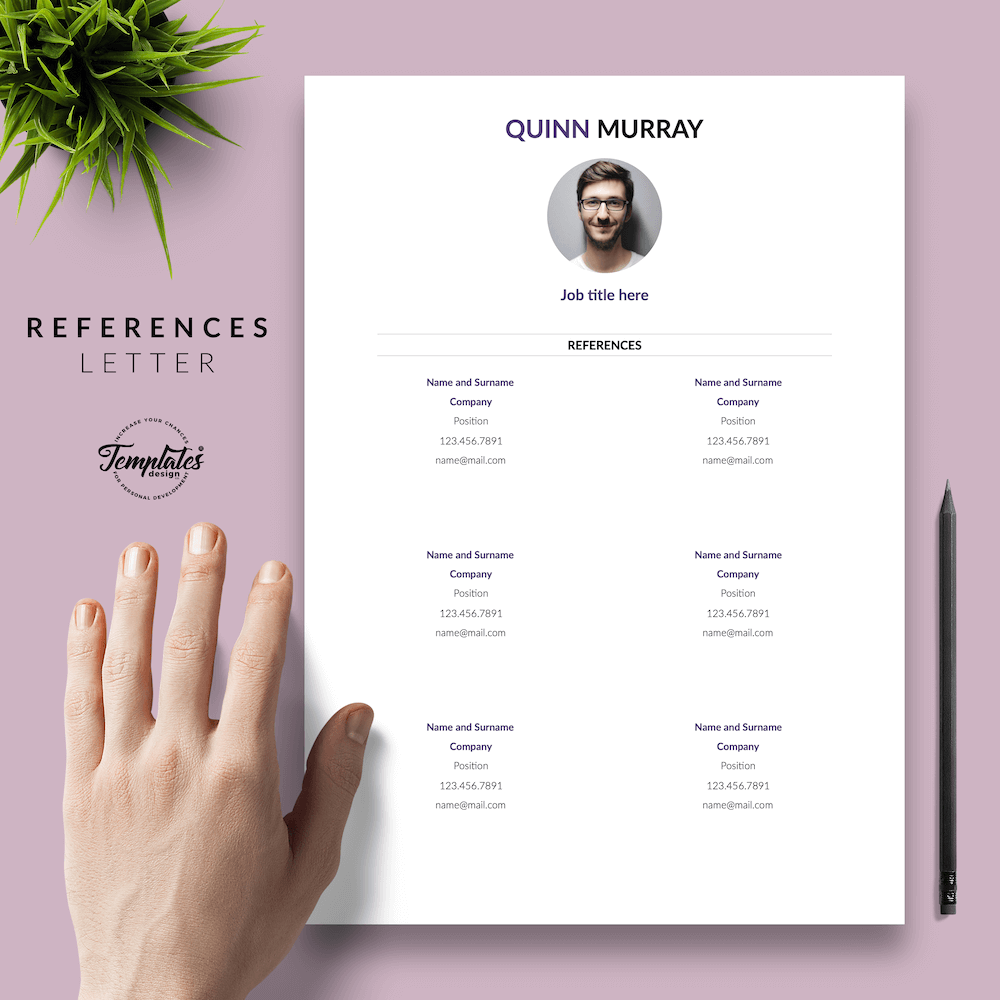 Modern Resume Design - Quinn Murray 06 - References