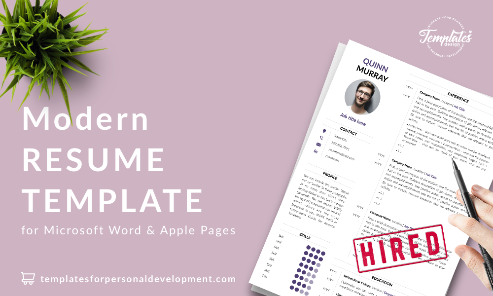 Resume CV Template : Quinn Murray 22 - Post