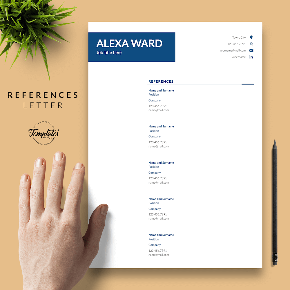 Professional CV for Word - Alexa Ward 06 - References