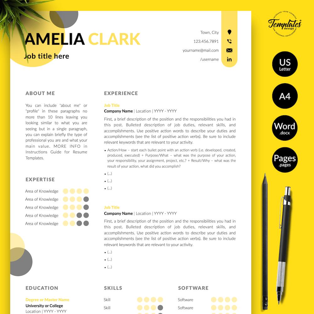 Graphic Designer Resume - Amelia Clark 01 - Presentation