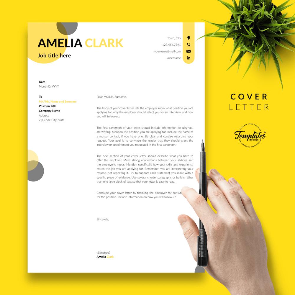 Graphic Designer Resume - Amelia Clark 05 - Cover Letter