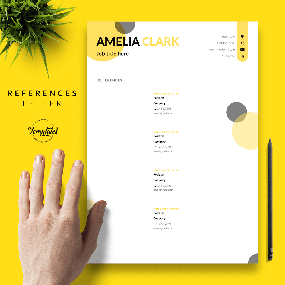 Graphic Designer Resume - Amelia Clark 06 - References
