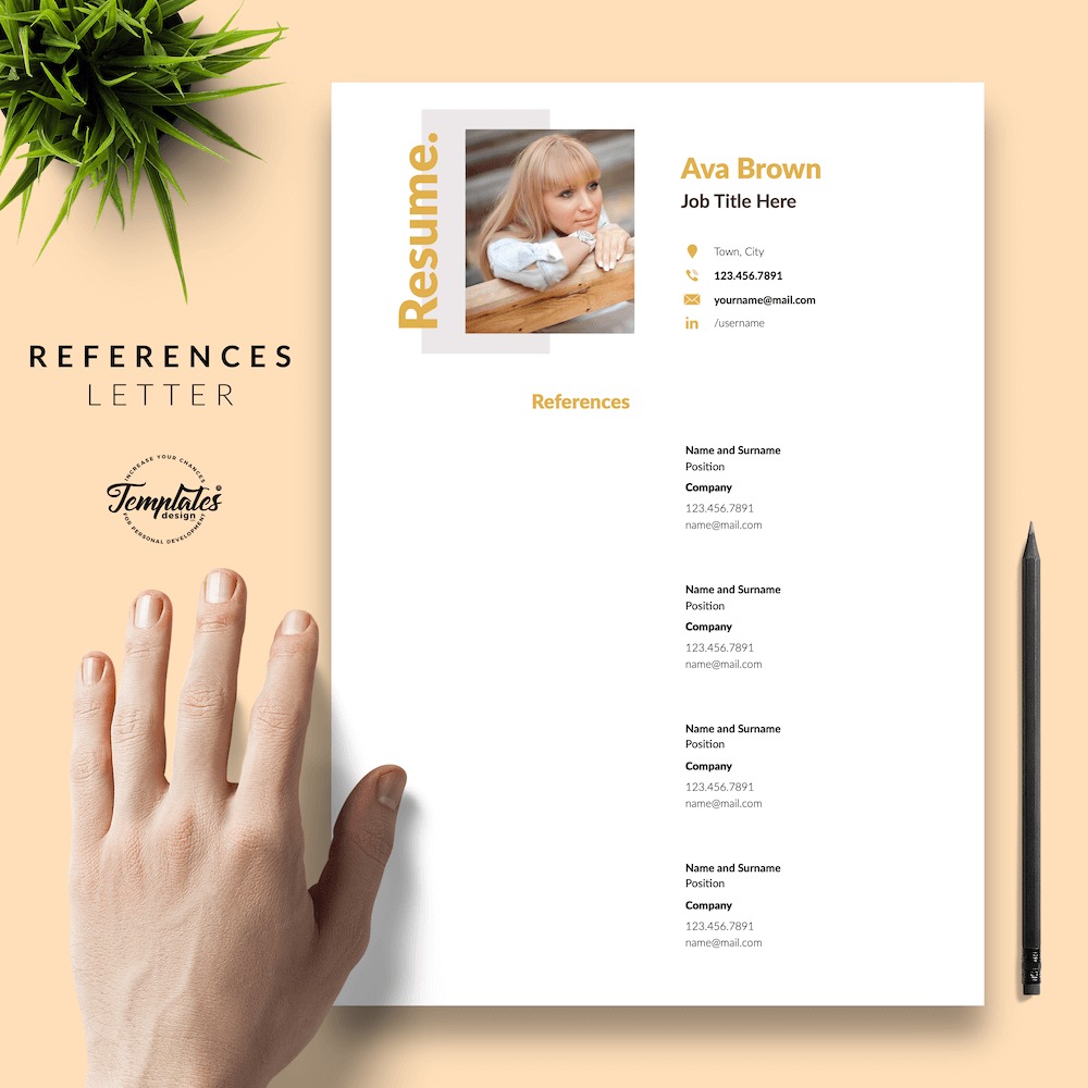 Modern Resume for Any Job - Ava Brown 06 - References - New version