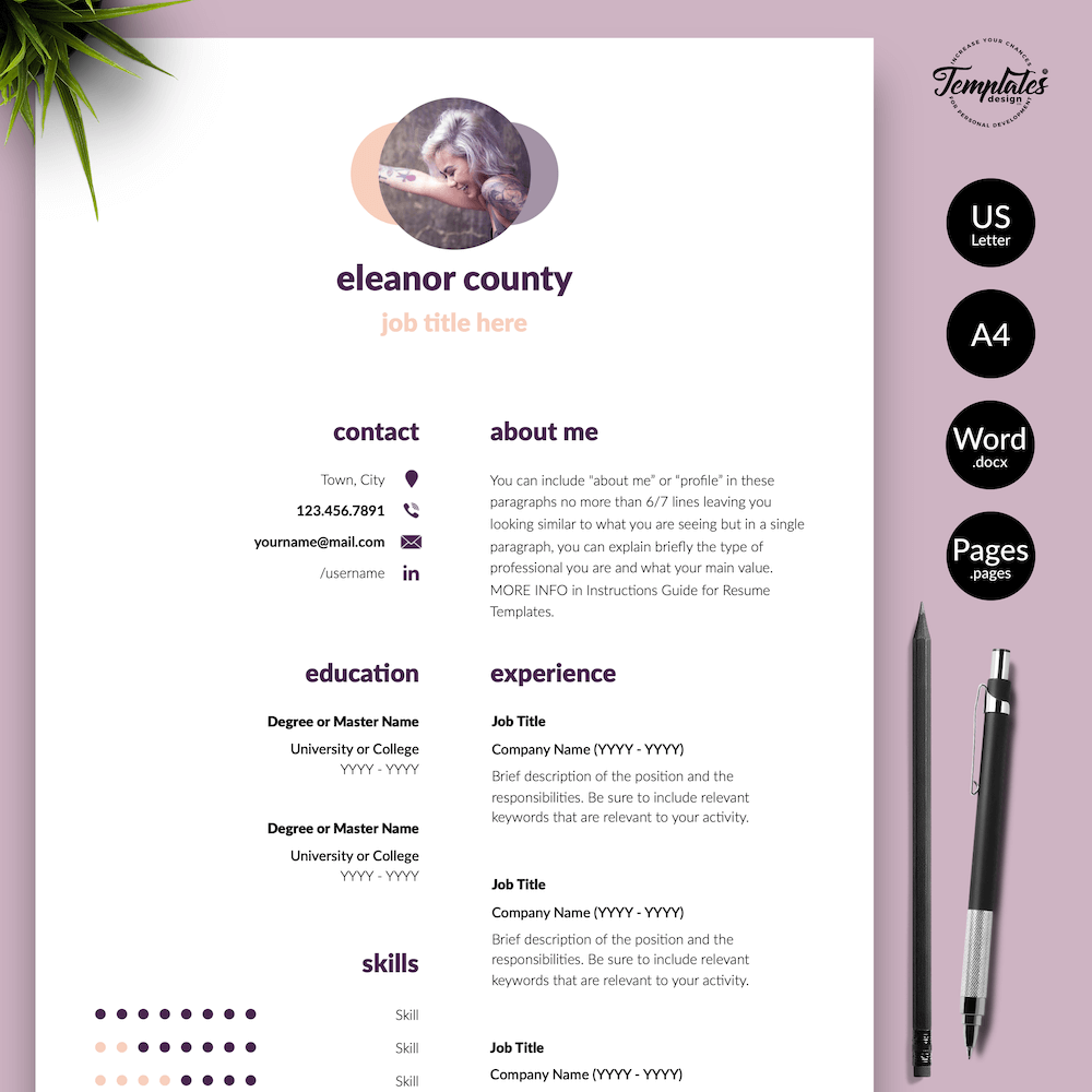 Minimalist CV Template - Eleanor County 01 - Presentation