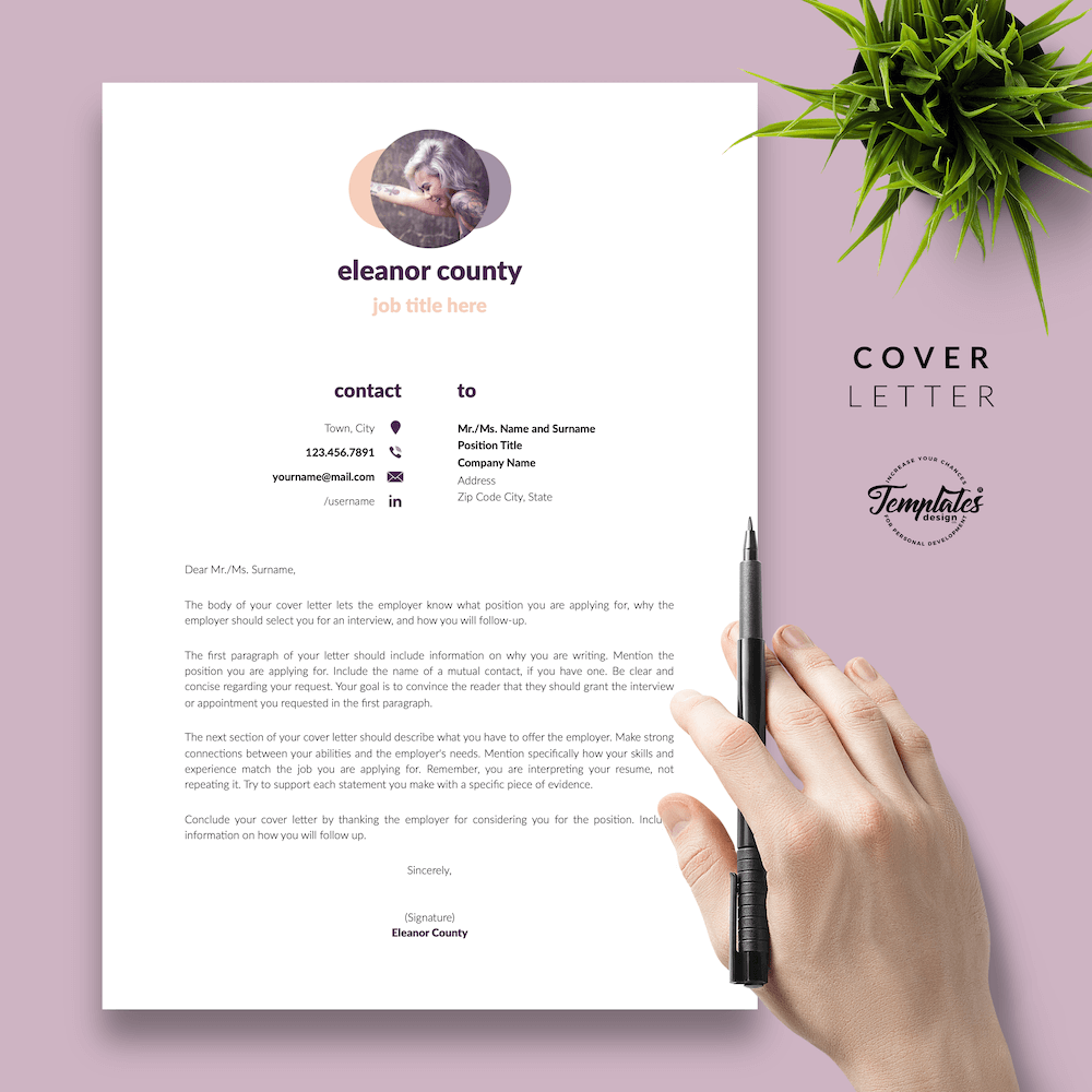 Minimalist CV Template - Eleanor County 05 - Cover Letter