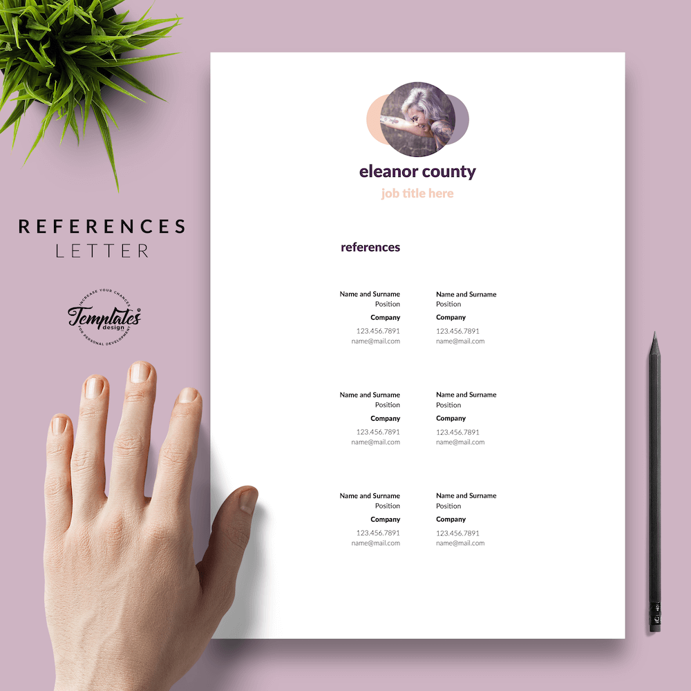 Minimalist CV Template - Eleanor County 06 - References