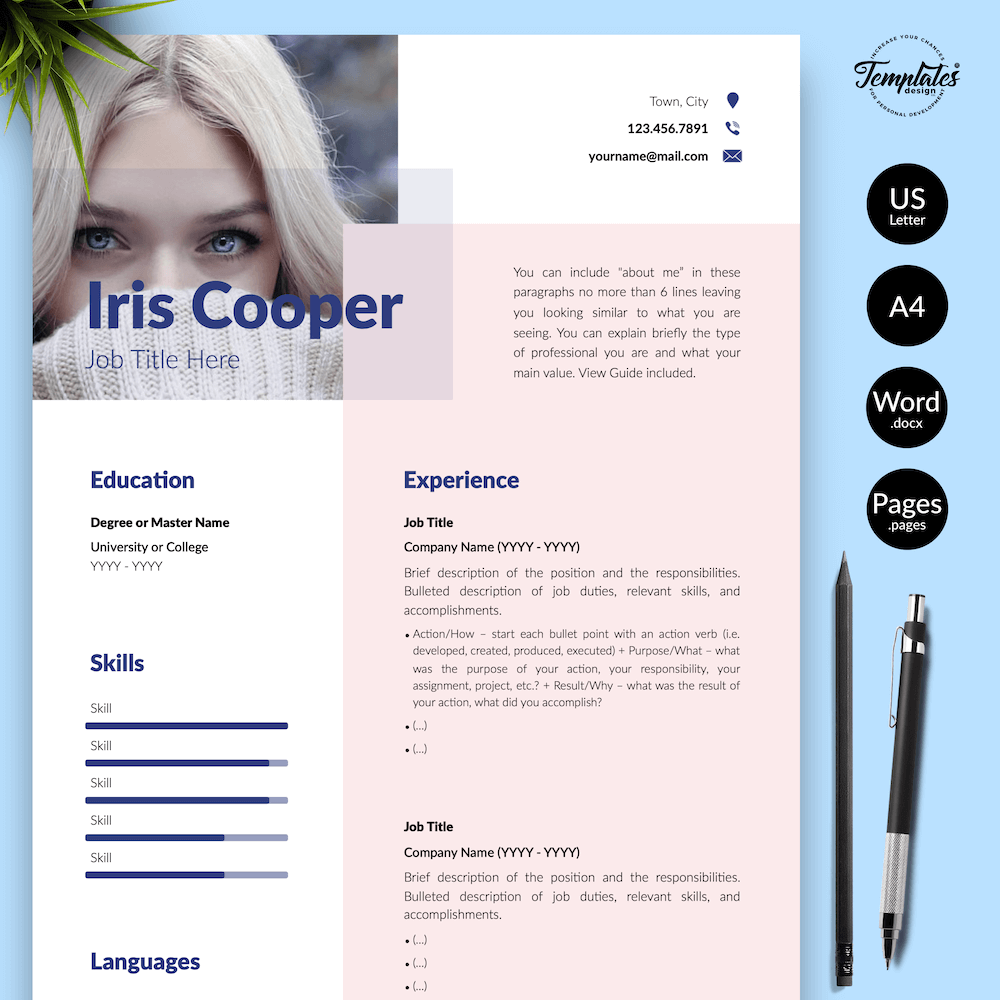 Best CV Template - Iris Cooper 01 - Presentation - New version_V2