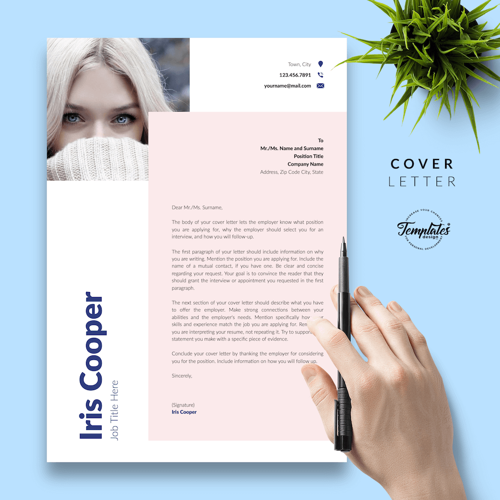 Best CV Template - Iris Cooper 05 - Cover Letter - New version_V2
