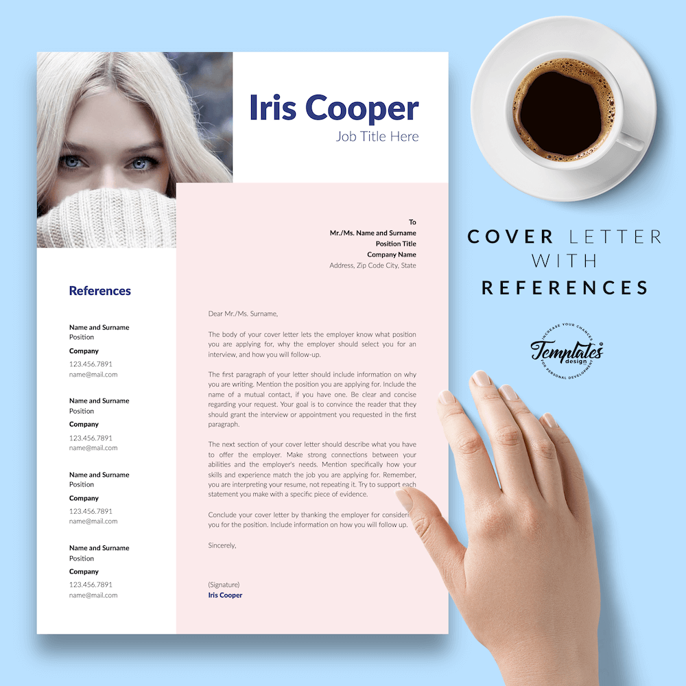 Best CV Template - Iris Cooper 07 - Cover Letter with References - New version_V2