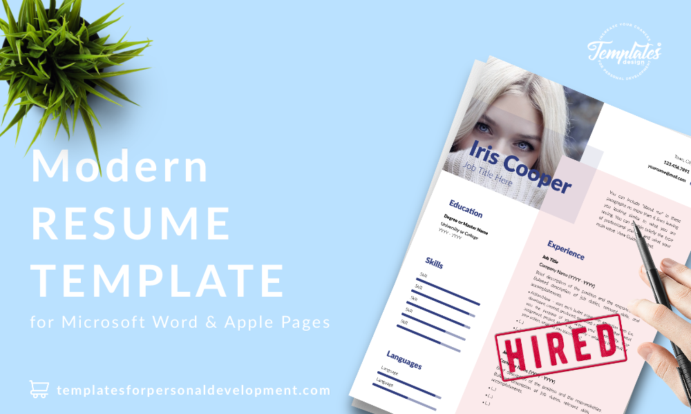Best CV Template : Iris Cooper 22 - Post - New version_V2