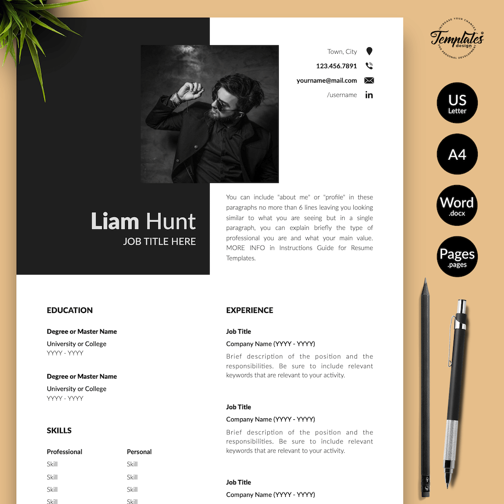 Modern CV for Word - Liam Hunt 01 - Presentation
