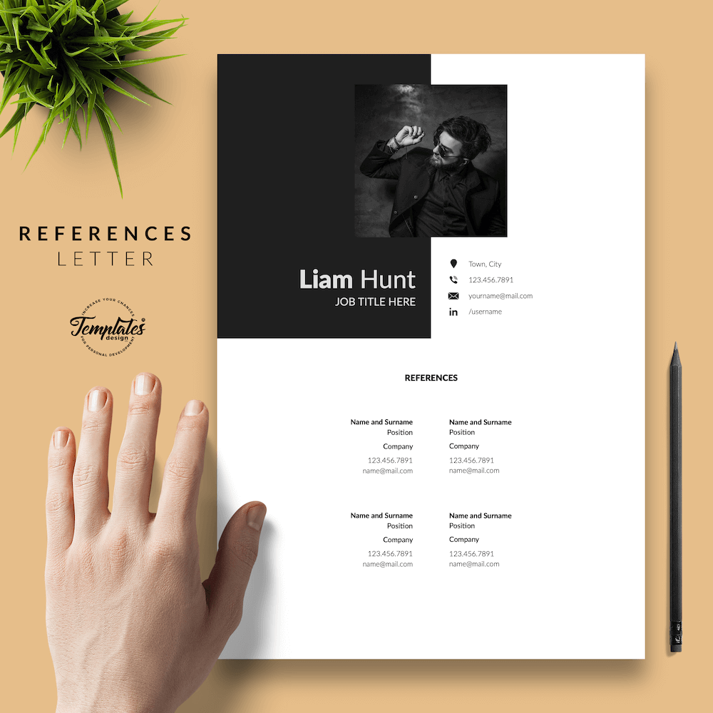 Modern CV for Word - Liam Hunt 06 - References