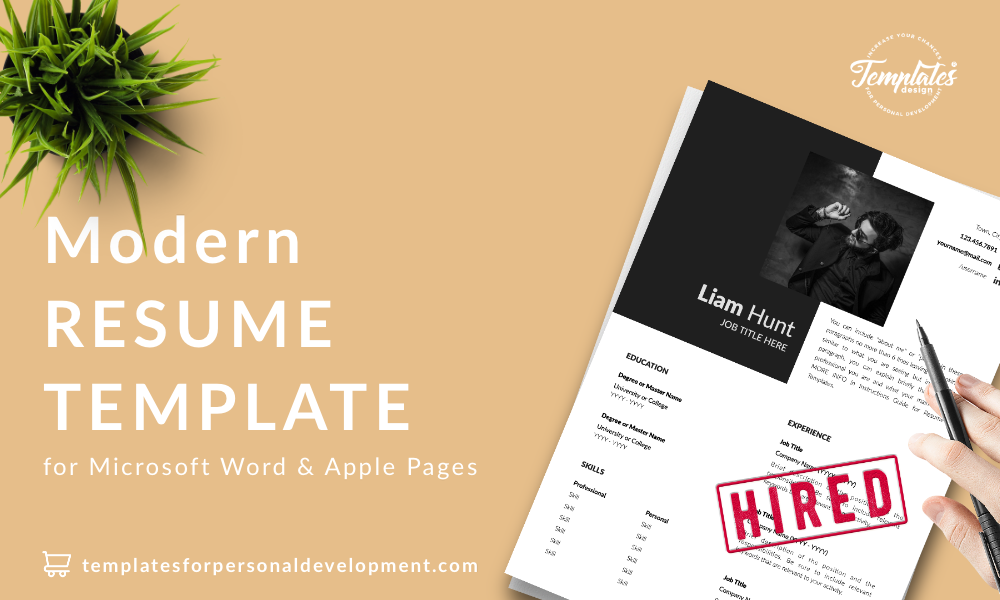 Resume CV Template : Liam Hunt 22 - Post