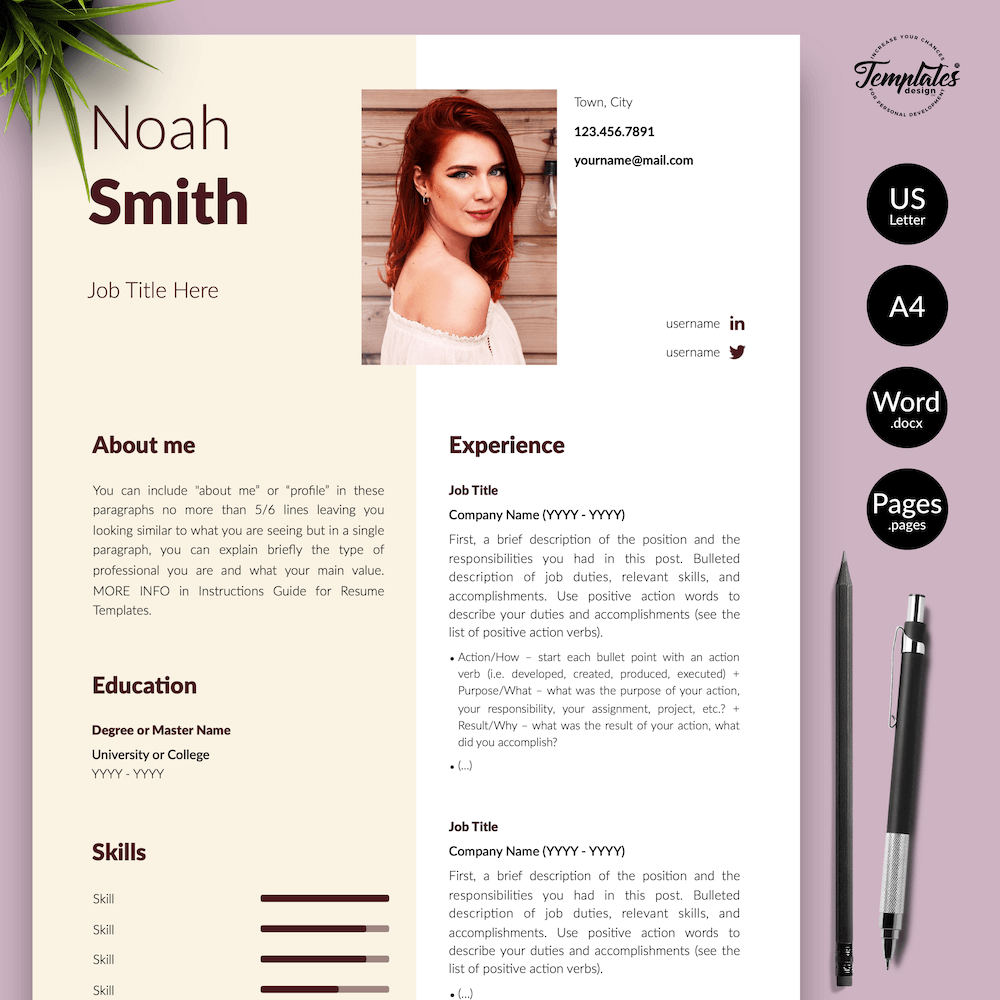 Sophisticated CV Template - Noah Smith 01 - Presentation - New version