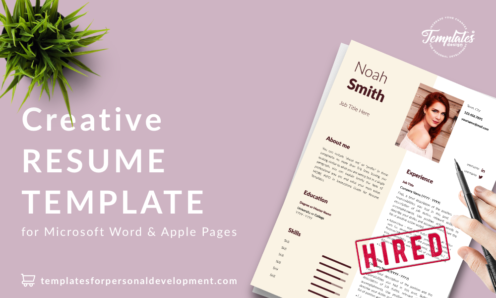 Resume CV Template : Noah Smith 22 - Post - New version