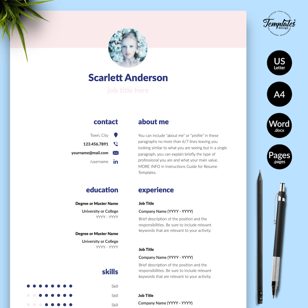 Creative Resume for Any Job - ScarlettAnderson 01 - Presentation - New version