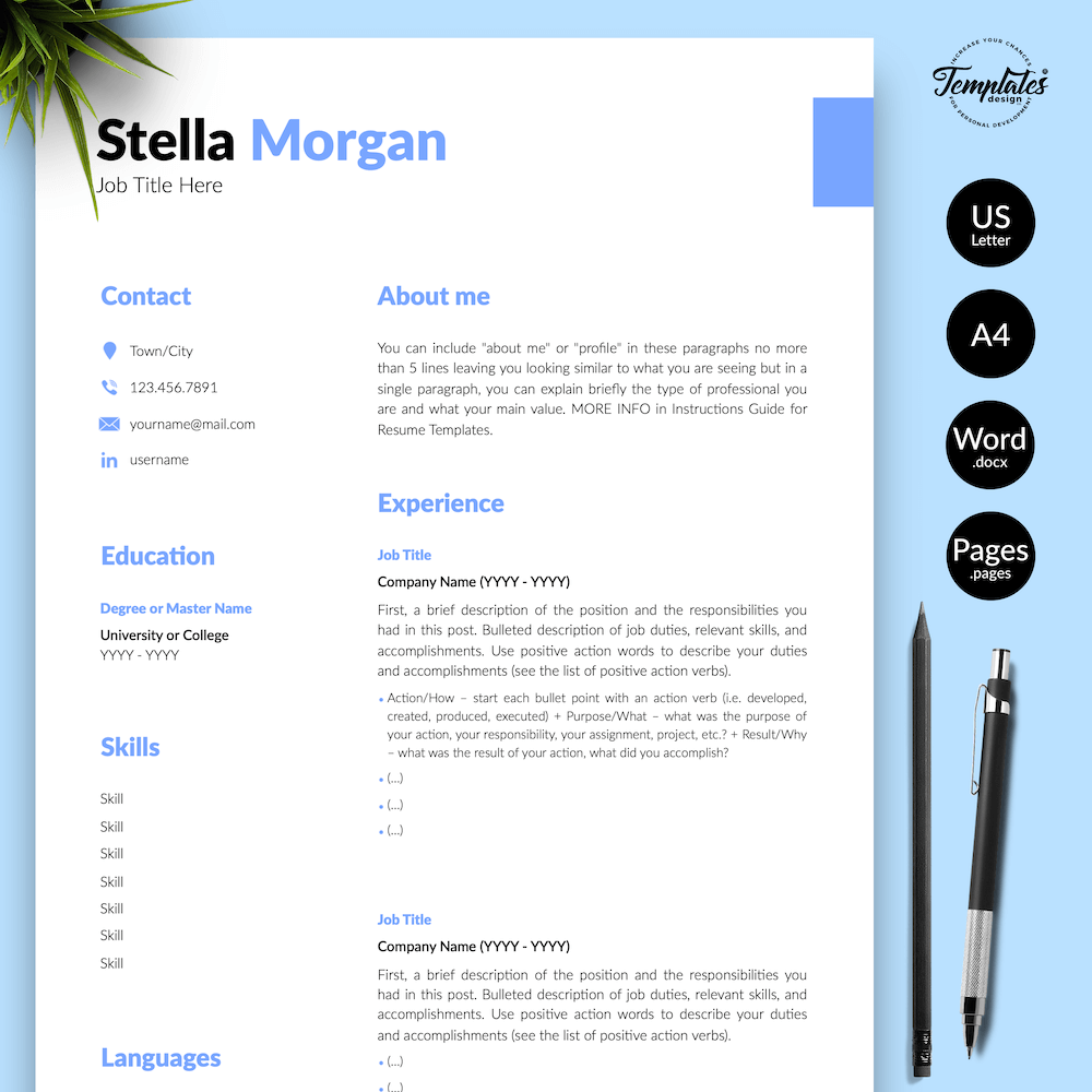 Basic Resume Format - Stella Morgan 01 - Presentation - New version