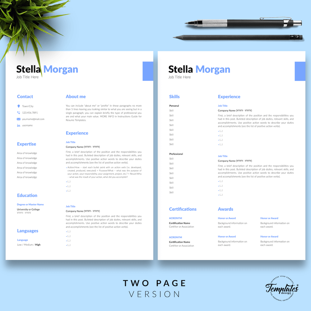 Basic Resume Format - Stella Morgan 03 - Two Page Version - New version
