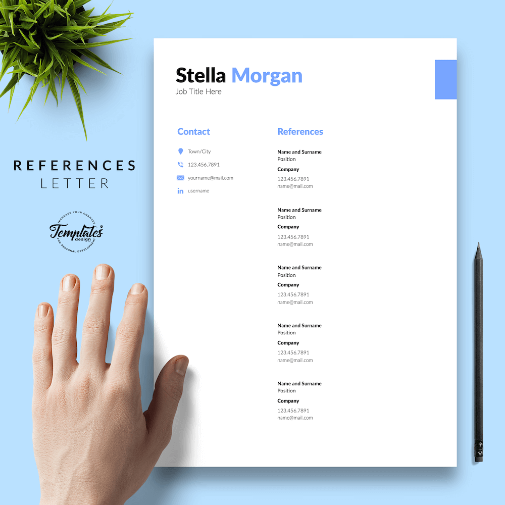 Basic Resume Format - Stella Morgan 06 - References - New version