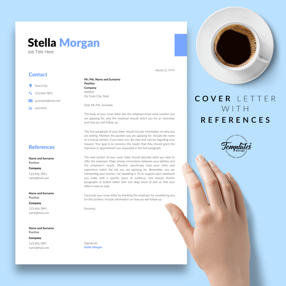 Basic Resume Format - Stella Morgan 07 - Cover Letter with References - New version
