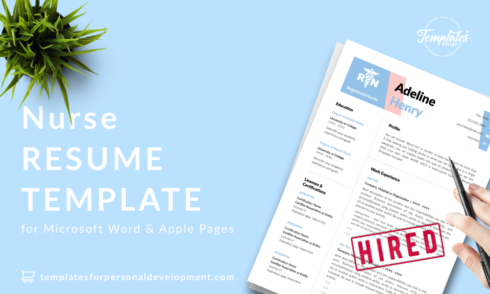 Resume CV Template : Adeline Henry 22 - Post - New version