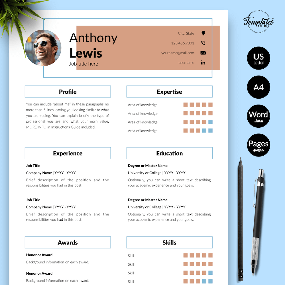 Resume Example for Engineer - Anthony Lewis 01 - Presentation - New version