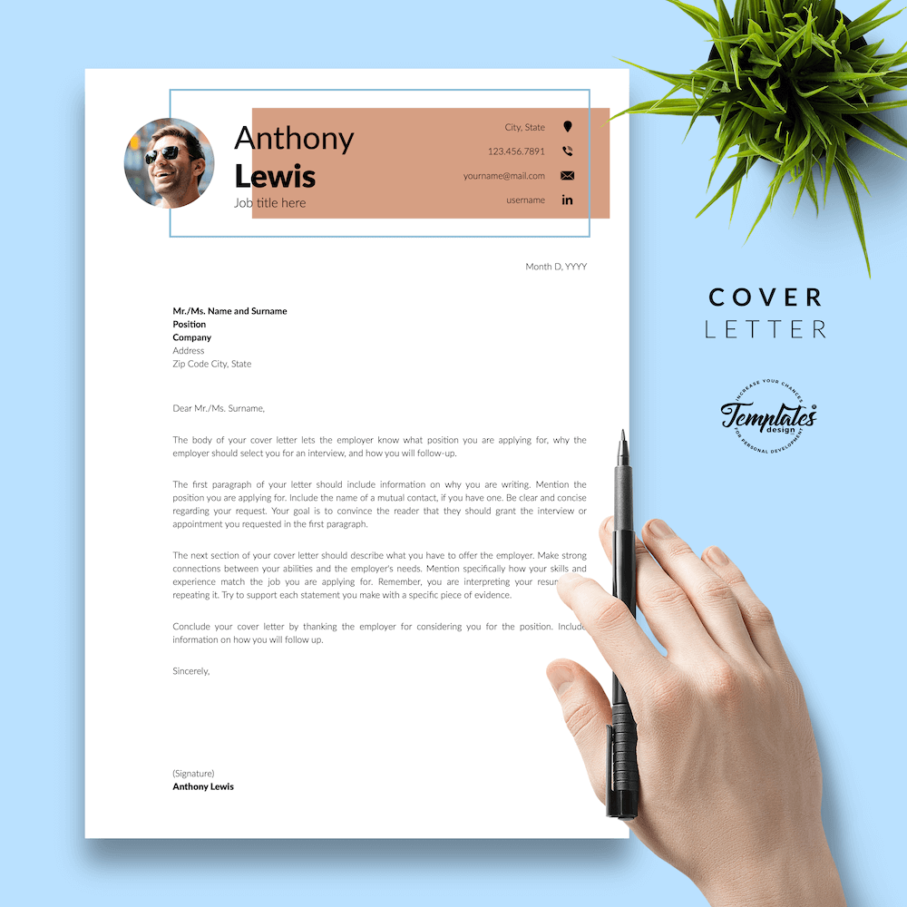 Resume Example for Engineer - Anthony Lewis 05 - Cover Letter - New version