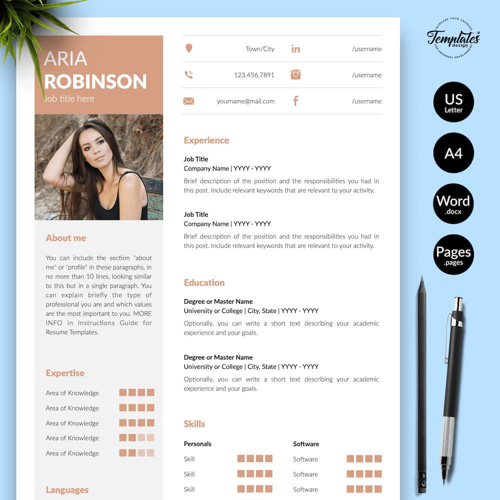 Creative CV Example - Aria Robinson 01 - Presentation - New version