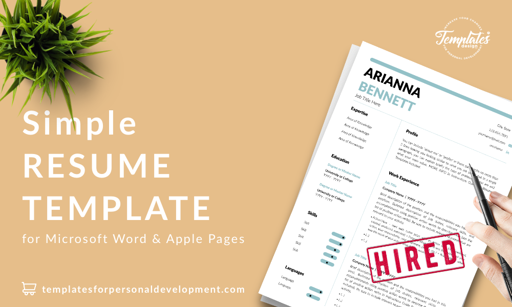 Resume CV Template : Arianna Bennett 22 - Post - New version