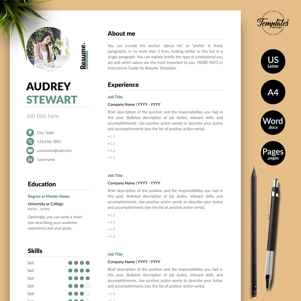 Best Resume for Any Job - Audrey Stewart 01 - Presentation - New version