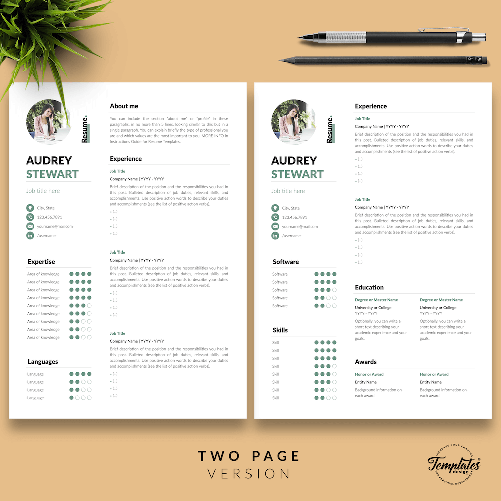 Best Resume for Any Job - Audrey Stewart 03 - Two Page Version - New version