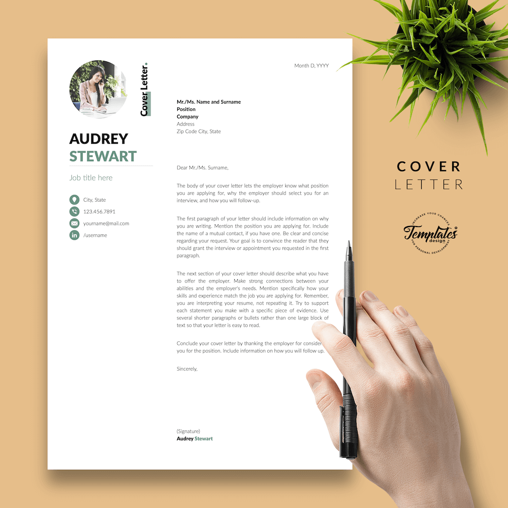 Best Resume for Any Job - Audrey Stewart 05 - Cover Letter - New version