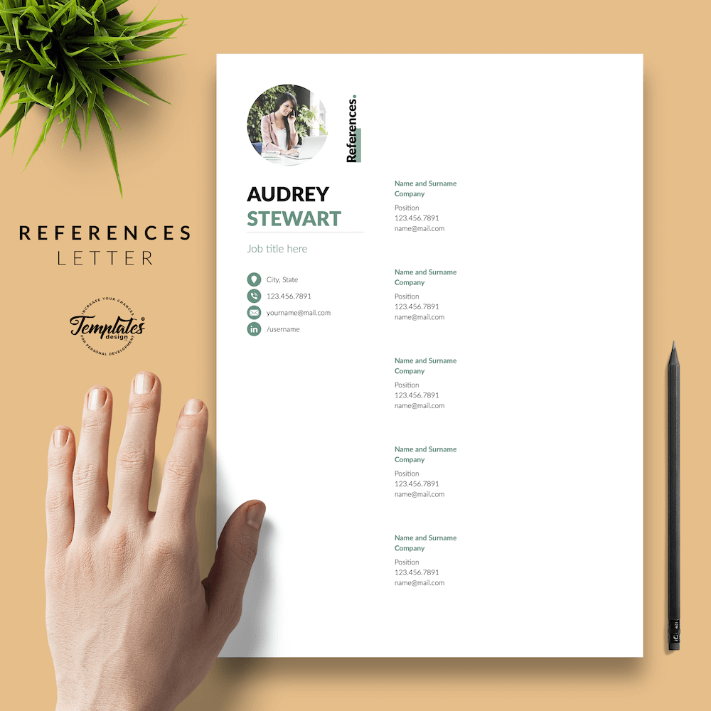 Best Resume for Any Job - Audrey Stewart 06 - References - New version
