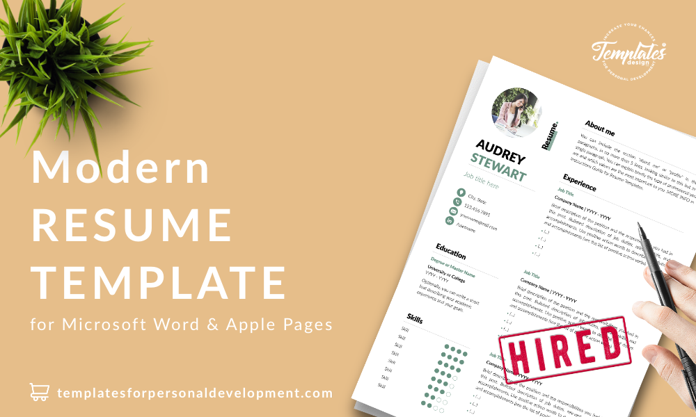 Resume CV Template : Audrey Stewart 22 - Post - New version