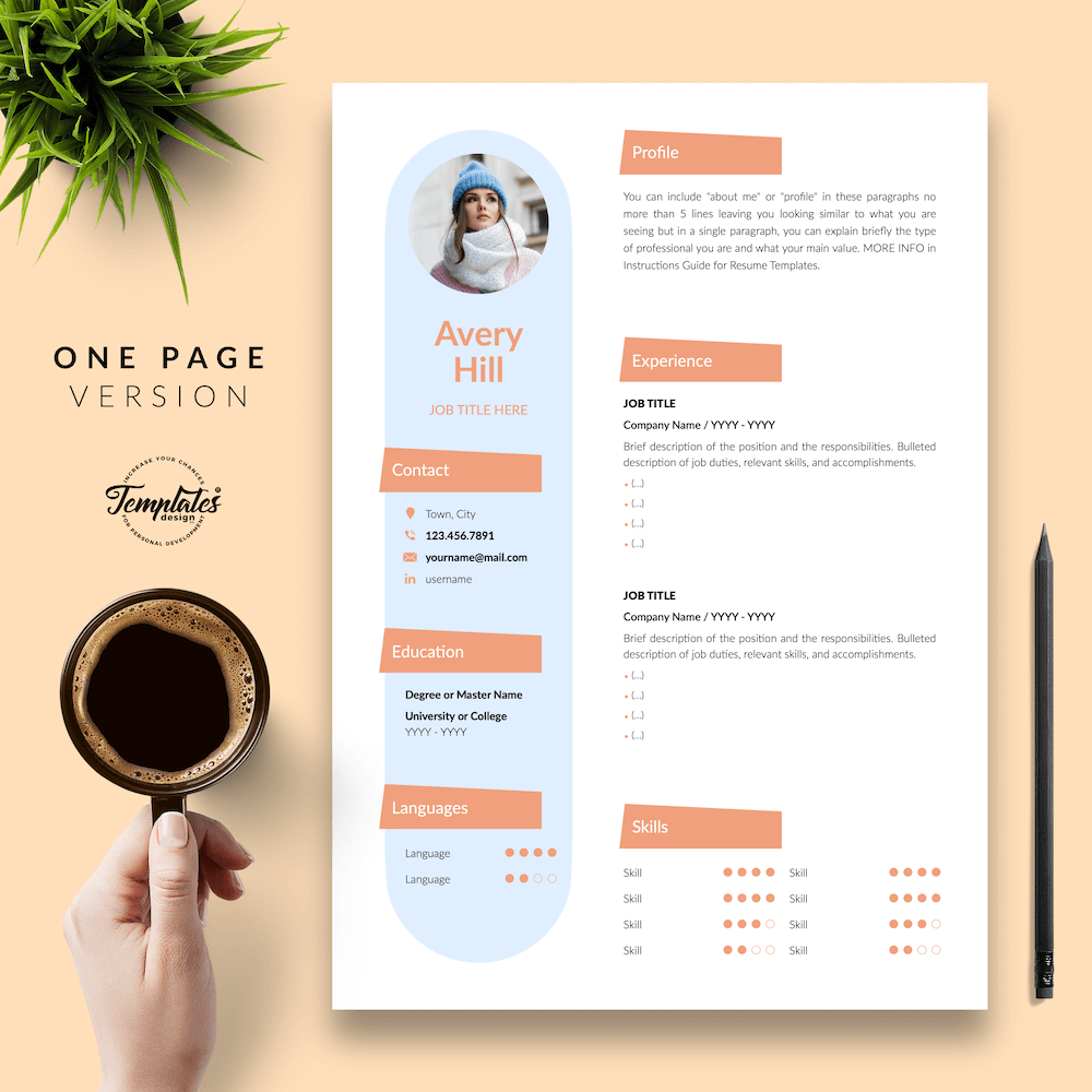 Resume Format for Wedding Jobs - Avery Hill 02 - One Page Version - New version