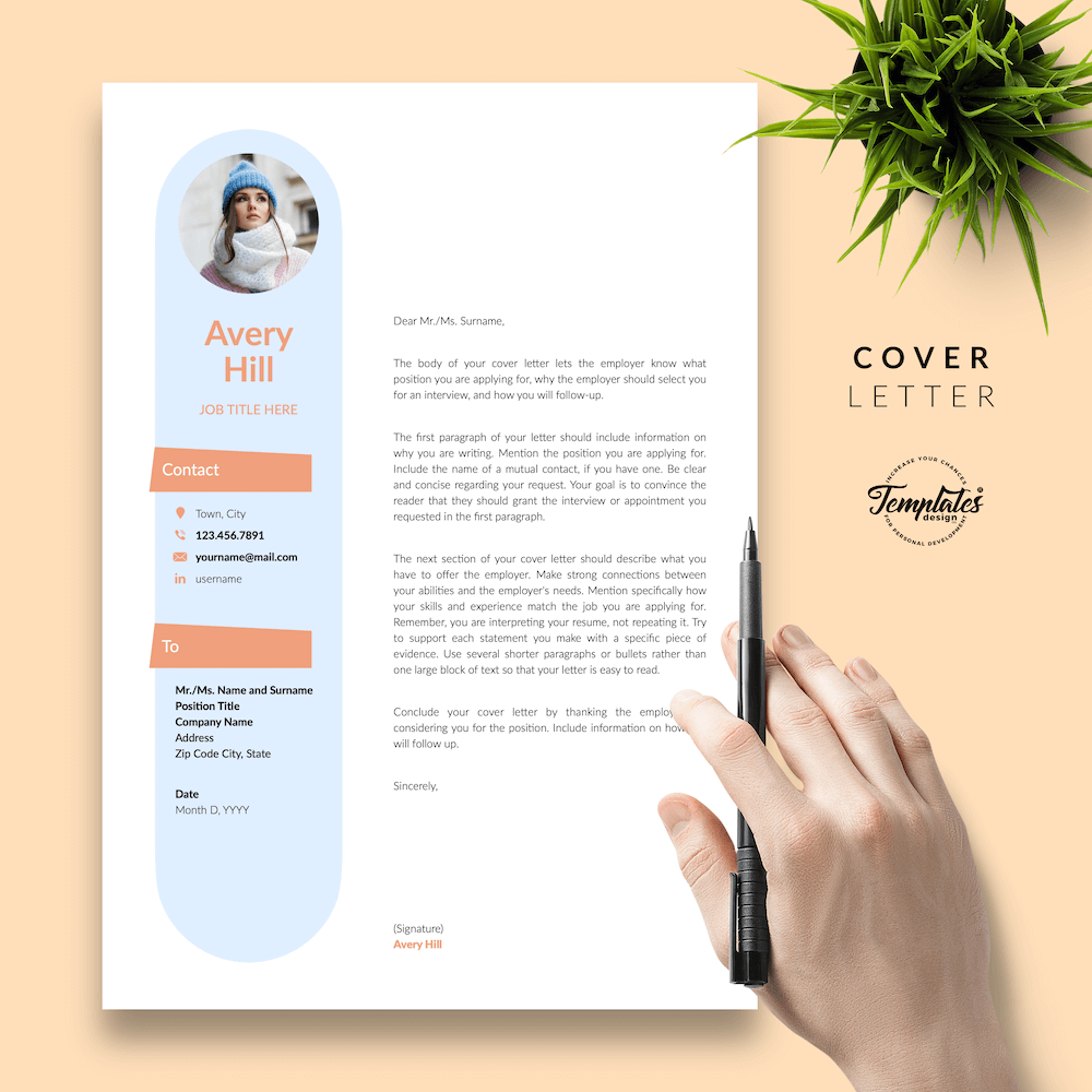Resume Format for Wedding Jobs - Avery Hill 05 - Cover Letter - New version