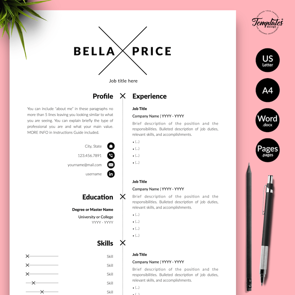 Simple Resume Format Template Natalie Evans Templates Design Co